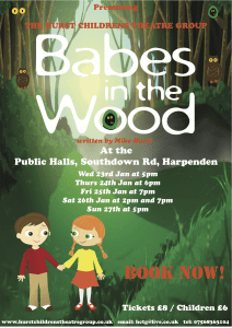 POSTER BABES IN THE WOOD
